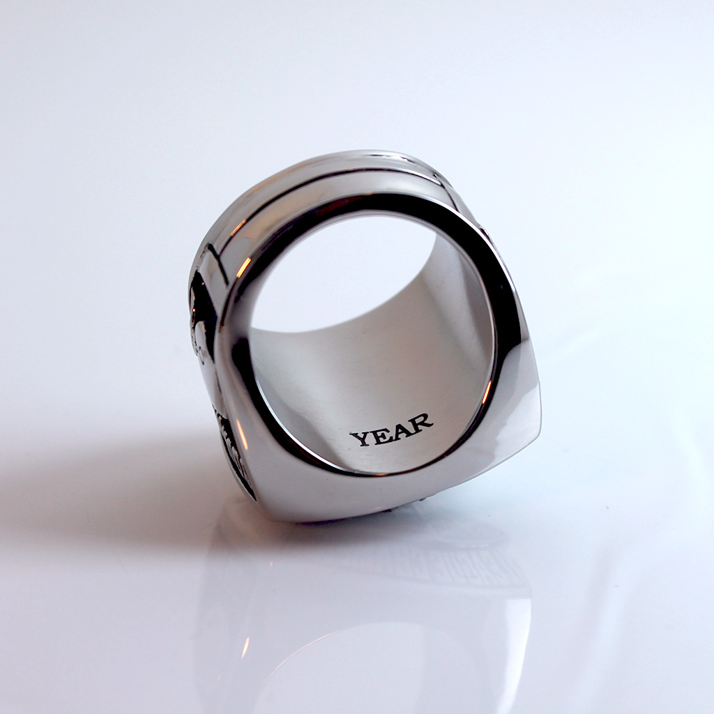 Engraving on the inside of the ring - can say anything you want, up to 8 characters.